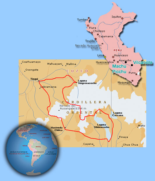 Distant Trails Vilcanota - Norway encarta map